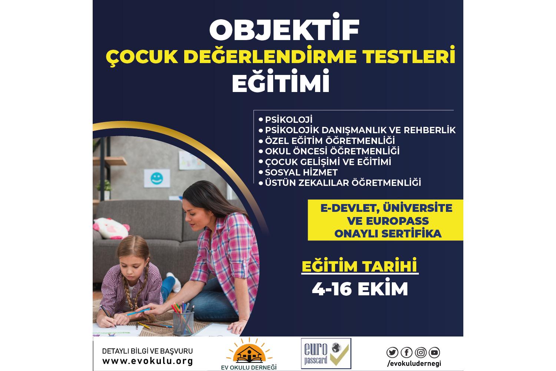 Objektif Çocuk Testi Eğitim Programı (Uygulayıcı Sertifikalı + Materyal Destekli) - Europass Kart Ayrıcalıklı