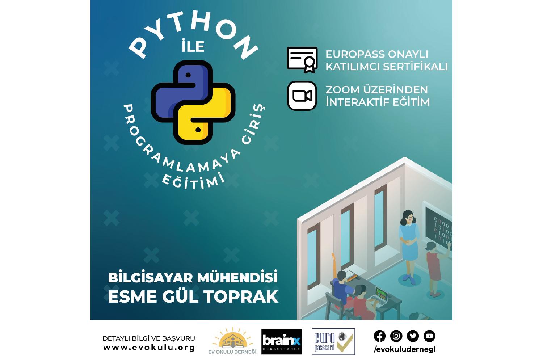 Python ile Programlamaya Giriş Eğitimi - EUROPASS Ayrıcalıklı
