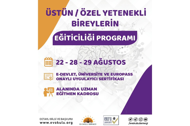 Üstün / Özel Yetenekli Bireylerin Eğiticiliği Programı - Europass Kart Ayrıcalıklı